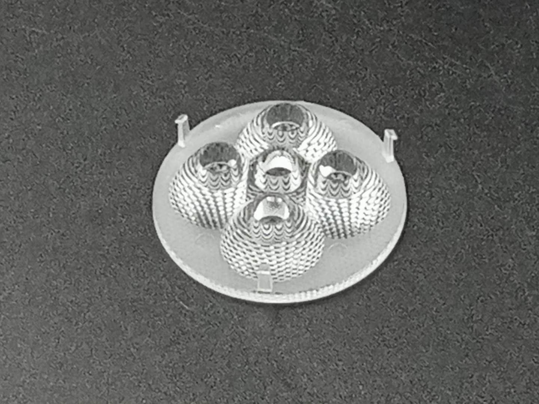 贴片多合一透镜/φ40mm五合一灯罩珠面LED灯具透镜